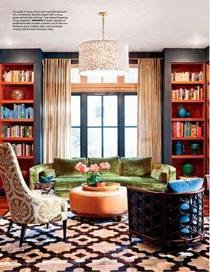 Love the rug, along with all the different patterns, colors and texture.