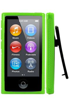 HHI Rubber Quick Clip Case for iPod Nano 7th Generation - Green