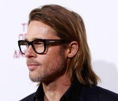 Brad Pitt hair & frames lookin' good