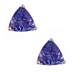 Anika and August 14k White Gold Tanzanite Stud Earrings ($204) ❤ liked on Polyvore featuring jewelry, earrings, blue, 14 karat white gold earrings, blue butterfly earrings, white gold tanzanite earrings, blue stud earrings and butterfly earrings