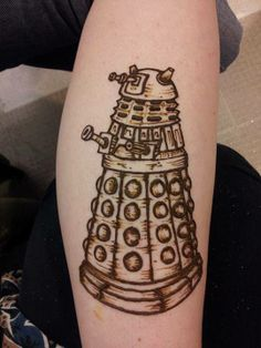 Geeky Henna - Doctor Who Dalek - by Geek Goddess Creations