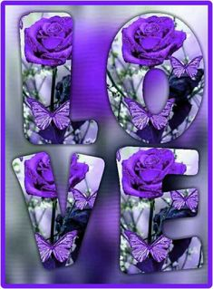 and loving thoughts. Purple Love, Purple Lilac, Blue Roses, All Things Purple, Shades Of Purple, Deep Purple, Aqua Blue, Purple Stuff, Color Lavanda