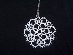 white bridal lace necklace tatted white necklace by MamaTats