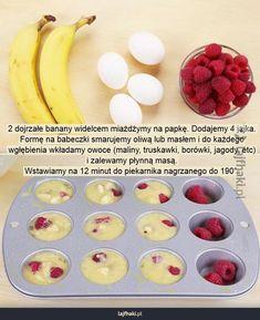 Muffiny w 20 minut Healthy Sweets, Healthy Snacks, Good Food, Yummy Food, Food Design, Diy Food, Food Inspiration, Food To Make, Food Porn
