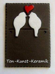 Vogelpaar von Ton-Kunst-Keramik auf DaWanda.com