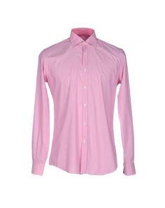 FRANCESCO ORSINI Men's Shirt Fuchsia 15 ¾ inches-neck