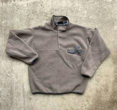 cb1149cd52c3 Patagonia Synchilla Sweater Vintage T Snap Brown Gray Fleece Rare Medium  Pile #Patagonia #Fleece