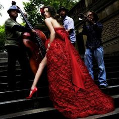 a red wedding gown. Deep Red Wedding, Red Wedding Gowns, Red Gowns, Bridal Dresses, Dream Wedding, Wedding Shoes, Prom Dresses, Red Fashion, Fashion Photo