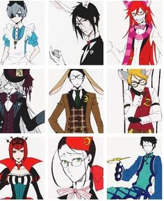 My Favorite Characters Were Always The White Rabbit And The Mad Hatter Thank You Black Butler You Made It Better