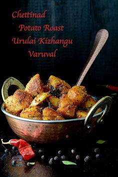 Chettinad potato roast is a scrumptious dry curry of versatile potatoes prepared with freshly ground spice masalas along with few other ingredients.