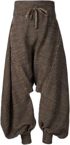 Vivienne Westwood drop crotch knit trousers