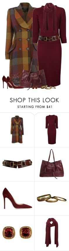 """""""Jefferson"""" by stylesbymimi ❤ liked on Polyvore featuring Vivienne Westwood Anglomania, Alexander McQueen, CÉLINE, Nina Ricci, Gianvito Rossi, Alice Joseph Vintage and SELECTED"""