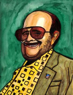 """""""Torrente, el brazo tonto de la ley"""" (Spanish for """"Torrente, the dumb arm of the law"""") is a 1998 Spanish dark comedy written, directed and starred by Santiago Segura and produced by Lolafilms. Characterized by its deliberately thick, cartoonish humor, it had a positive reception from the public and critics, making Torrente part of Spanish contemporary popular culture. (Quoted from Wikipedia.org) ...... Watercolour on paper, 24 x 32 cm ...... トーレンテ Caricatures, Popular Culture, Dumb And Dumber, Watercolour, Law, Spanish, Comedy, Cartoons, Reception"""