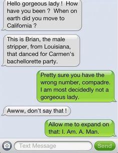 Hilarious Wrong Number Replies