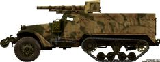 M3 75 mm (2.95 in) GMC. These were replaced by 105 mm (4.13 in) equipped GMCs. Pin by Paolo Marzioli