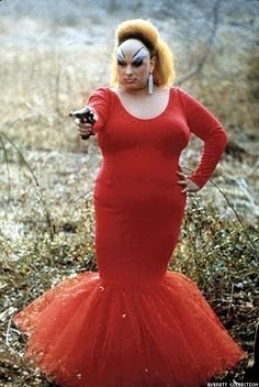 Divine  In her iconic dress from Pink Flamingos