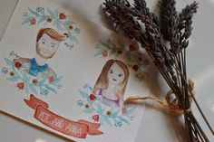 Vie de Vic: Wedding Ideas: Watercolor Portraits www.etsy.com/shop/viedevic