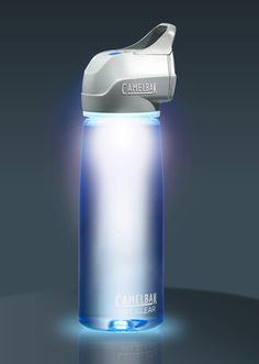The 'CamelBak All Clear' water bottle is a UV microbiological water purification device that utilizes proven ultraviolet light technology to purify water without the use of chemicals.