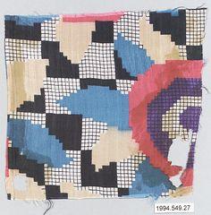 Textile sample | Wiener Werkstätte | Designer Unknown | 1910–28