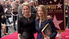'My favorite actress': Kristen Stewart's touching speech at Jodie Foster's Hollywood Star Ceremony. Kristen join Jodie on the red carpet to celebrate the occasion.