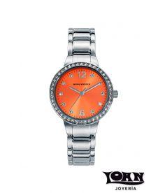 Reloj Mark Maddox Mujer. Plateado y naranja #reloj #relojes #mark #maddox #markmaddox #naranja #plateado #mujer #senora #relojnaranja