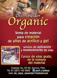 Distribuidor Organic en Zamora, ve y haz tu consumo para esta nueva temporada, aprende a crear uñas, son distribuidores