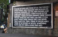 Billboard campaign by artist Robert Montgomery.