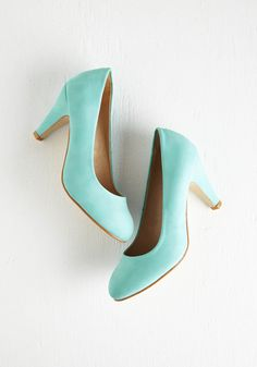 In a Classic of Its Own Heel in Mint - Mint, Solid, Work, Pastel, Mid, Party, Daytime Party, Minimal, Faux Leather, Press Placement, Best Seller, Good, 4th of July Sale, Spring