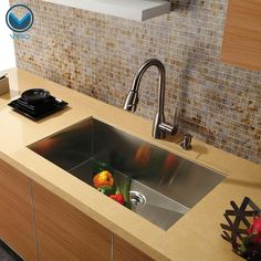 "VIGO VG3019B Single Bowl 32"" Undermount Stainless Steel Kitchen Sink.  Amazon or Hayneedle.  $312."