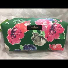 Kate spade Davie GRANT STREET GRAINY VINYL MEDIUM DAVIE  SIZE: ONE SIZE COLOR: SPROUT GREEN SPRING BLOOMS STYLE #: WLRU2117 kate spade Bags Mini Bags