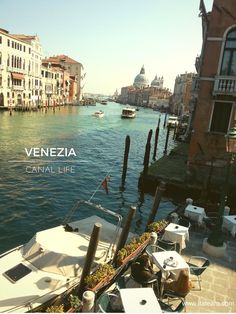A beautiful view of Venice canals. Venezia, Italy