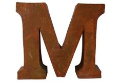 One Kings Lane - Signs of the Times - Industrial Letter M