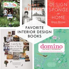 Cotton & Flax / Favorite interior design books