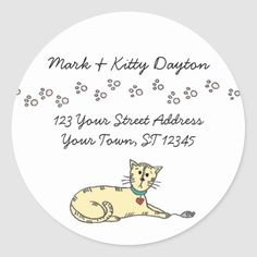 Whether you write them by hand or print them at home, check out our selection of Round Address Labels return address labels. Return Address Stickers, Return Address Labels, Custom Address Labels, Addressing Envelopes, Cat Paws, Writing, Personalized Address Labels, Writing Process