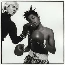 Odd boxing: Warhol and Basquiat...Knock Out Punch, 1985