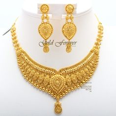 Indian Gold Necklace Designs, Indian Jewelry Sets, Gold Earrings Designs, Gold Jewellery Design, Gold Set Design, Necklace Set, Bridal Necklace, Bridal Jewelry, Jewelry Box