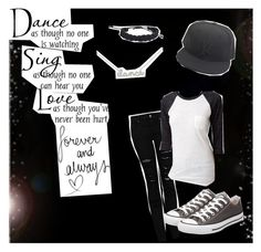 LIVE!! by callerholm-f on Polyvore featuring polyvore, fashion, style, Forever 21, MANGO, Converse, Sydney Evan and New Era