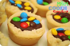 M & M Cookie Cups!!!! I want these for my birthday !!!
