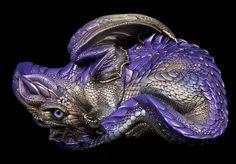 "Windstone ""Amethyst Shadow 1"" Mother Dragon Figurine Fantasy Test Paint Statue | eBay"