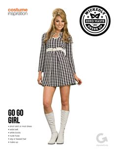 SF Goodwill Halloween Costume Idea and Inspiration - Go Go Girl #goodwill #halloween #diy #costume #thrift