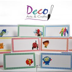 Baby First TV - Food Label Tent Cards from Deco Arts & Crafts for $10.99 on Square Market