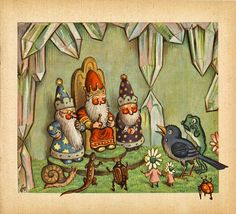 The Little Round Table: Vintage Thingies Thursday: Waldmärchen or Forest Fairy Tales
