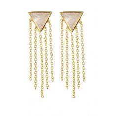 Cher Gemstone Stud Earrings in Apatite