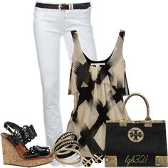 """""""Tory Burch Summer Night"""" by lgb321 on Polyvore"""