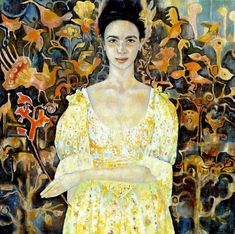 Painting is silent poetry, and poetry is painting that speaks. Mellow Yellow, Figure Painting, Green And Orange, Yellow Dress, Figurative Art, Contemporary Art, Culture, Female, Illustration