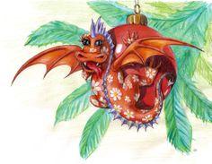 Christmas Dragon by Nelli Khatmoullina