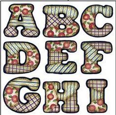 fonte : morandini Alfabeto em PATCHWORK fonte: http://mercadodosriscos.blogspot.com/2008/01/alfabeto-em-patchwork.ht...