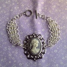 Cameo and Chainmaille Bracelet