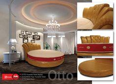 Otto Yuvarlak Yatak Bazası ve Başlığı | Sofaroom Yuvarlak Yatak /round bed