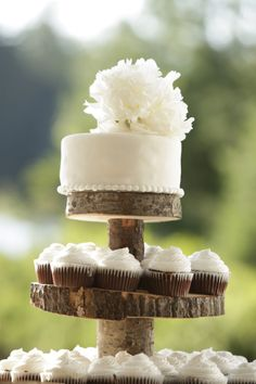 Cakes and cupcakes: http://www.stylemepretty.com/canada-weddings/ontario/ottawa/2013/10/24/danford-lake-wedding-from-studio-g-r-martin-photography/ | Photography: Studio G. R. Martin - http://www.martinphotography.ca/